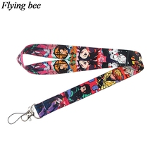 Flyingbee Anime Keychain Cartoon Cute Phone Lanyard Women Fashion Strap Neck Lanyards for ID Card Phone Keys X0733