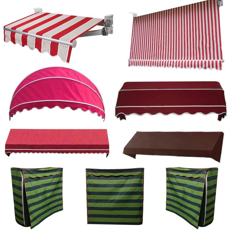 Tewango Custom Outdoor Awning Waterproof Fabric Store Curtain Balcony Canopy Cover UV Block Sunscreen Rain Tarp Strip Cloth