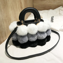 Hiver fausse fourrure de luxe nouvelles dames mignon sac fourre-tout femmes concepteur sac à main cheveux balle épaule sacs de messager bolsos mujer