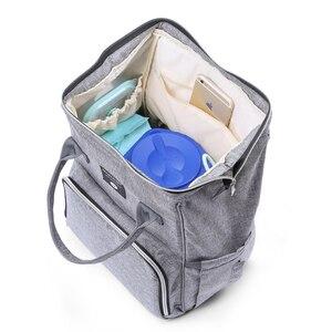 Image 5 - Insular Baby Moeder Rugzak Mummie Luiertas Grote Moederschap Luierzakken Multifunctionele Baby Bag Voor Wandelwagen Organizer Met Natte Zak