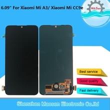 "Tela lcd 6.09 ""original supro amoled m & sen, para xiaomi mi a3 1906f9 + painel de toque digitador montagem para xiaomi mi cc9e"