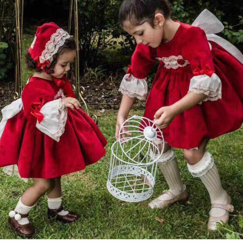 Robe princesse pour filles, robe de noël en velours rouge, pour le nouvel an, 5 pièces de qualité, cadeaux pour filles, hiver, 2019
