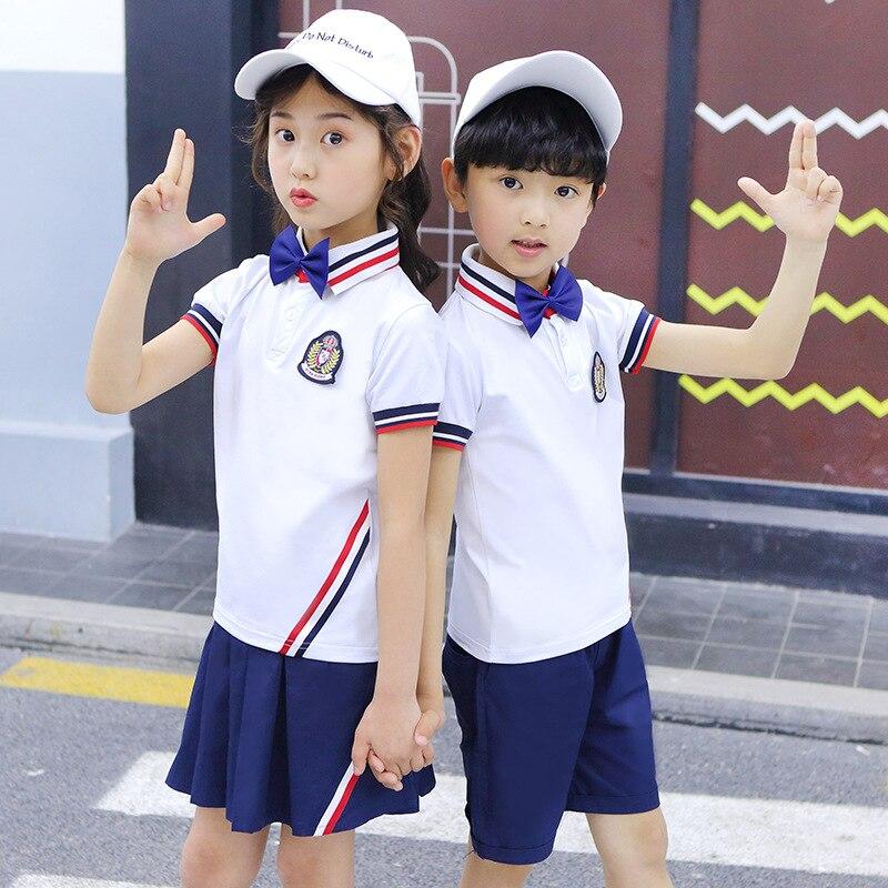 Kindergarten Suit Summer New Style 2019 Primary School STUDENT'S School Uniform Business Attire Men And Women Children Sports Se