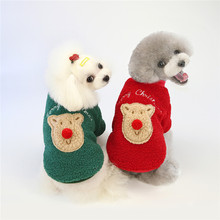 Jumpsuits Puppy Christmas-Elk Dogs Chihuahua Winter Warm for Small Yorkies Cat Overalls