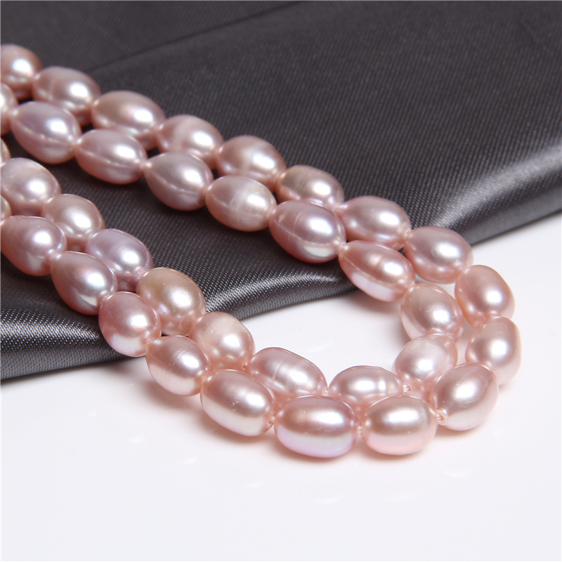 "6/"" peach Pearl strand-Genuine fresh water Pearl loose beads,"