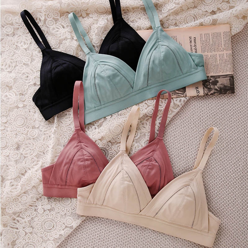 Womens Bra Sexy Lingerie Wireless Triangle Bralette Push Up Bra Seamless bras Tops AA A B C Cup 1