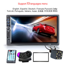 "Autoradio 2 Din Hd 7 ""Touch Screen Stereo Bluetooth Fm Iso Power Aux Input MP5 Speler Sd Usb met/Zonder Camera 12V(China)"