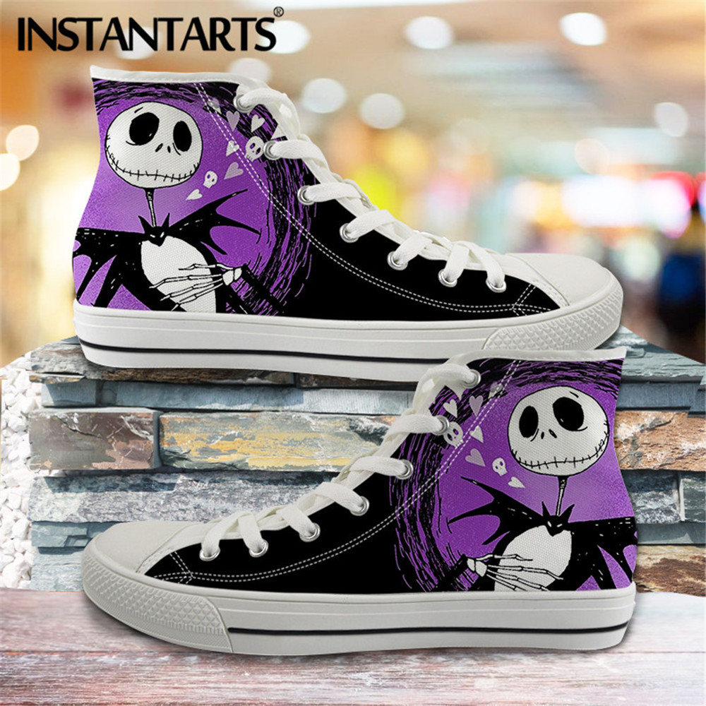 The Nightmare Before Christmas Women/'s Canvas Shoes Skull Jack Casual Men Shoes