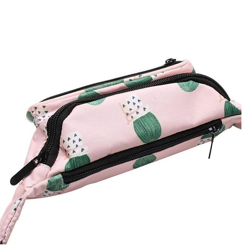 Fashion Unisex Cactus Pattern Waist Fanny Pack Belt Shoulder Bag Phone Pouch Travel Hip Bum Small Purse C90E