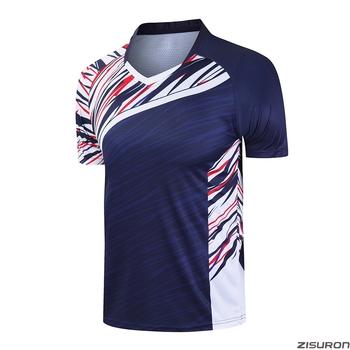 Nowe koszulki do badmintona koszulki do biegania mężczyźni kobiety na siłownię i do tenisa t-shirty koszulki do tenisa stołowego oddychające koszulki sportowe tanie i dobre opinie ZISURON POLIESTER SHORT Szybkoschnące oddychająca Zapobiega marszczeniu Dobrze pasuje do rozmiaru wybierz swój normalny rozmiar