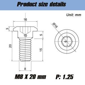 Image 2 - 5 sztuk M8 * 20 titanium śruby titanium Motor Bike tylne wirnik hamulca śruba śruba M8x20mm dla YAMAHA silnik akcesorium rowerowe