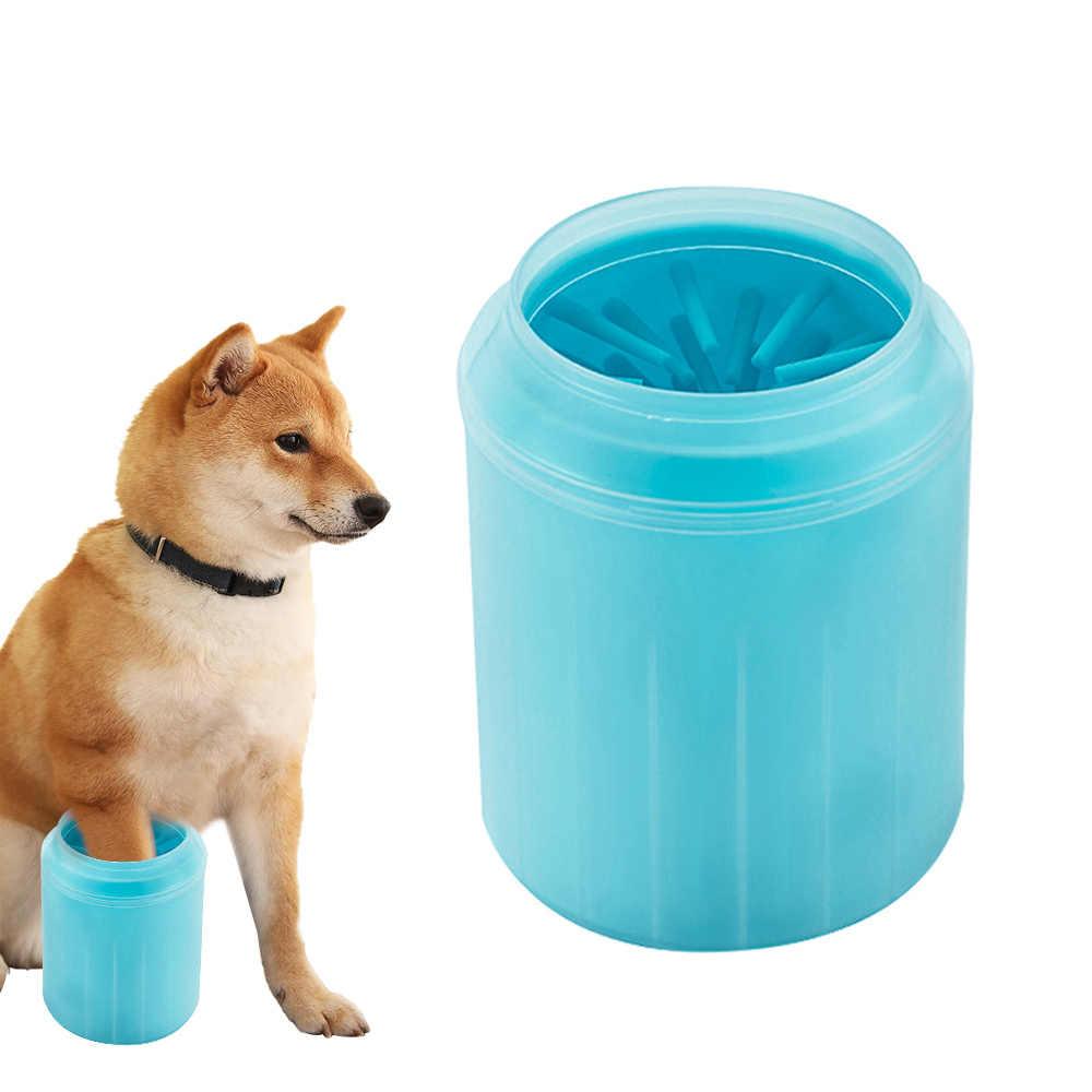 Hewan Peliharaan Kucing Anjing Kaki Bersih Piala untuk Anjing Kucing Alat Pembersih Plastik Lembut Sikat Cuci Kaki Mesin Cuci Anjing Peliharaan Aksesoris