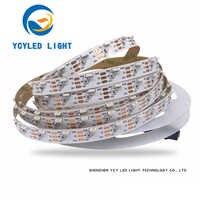 5 в 60 светодиодов/м ws2812b SK6812 боковое излучение индивидуальная neopixel Адресуемая цифровая RGB пиксельный модуль полосы ws2812 программируемая Свет...