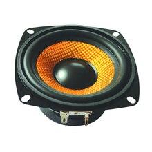 SOTAMIA 1 adet 4 inç Woofer ses ses hoparlör sürücüsü 4 Ohm 15 W DIY profesyonel multimedya Subwoofer hoparlör kare hoparlör