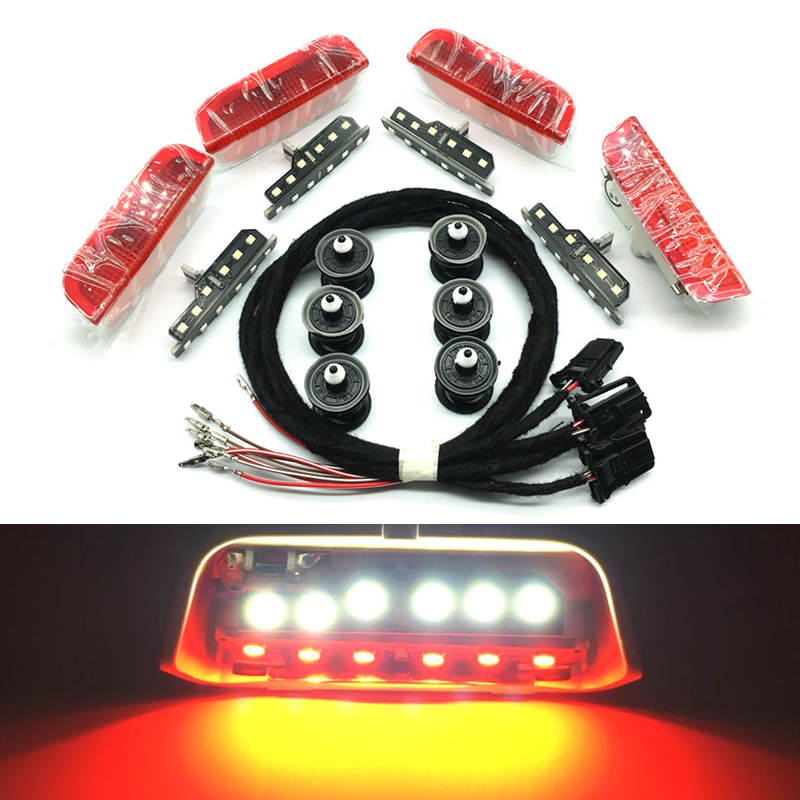 Car <font><b>Led</b></font> Door Warning Light lamp Cable Wire For VW Passat B6 B7 CC Jetta Golf 5 MK5 6 MK6 7 MK7 Tiguan Seat Alhambra 3AD 947 411 image