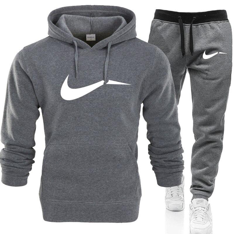 Hiver automne hommes sweat à capuche veste + joggers pantalons de survêtement homme impression costumes sportwear survêtement combat couleur marque vêtements