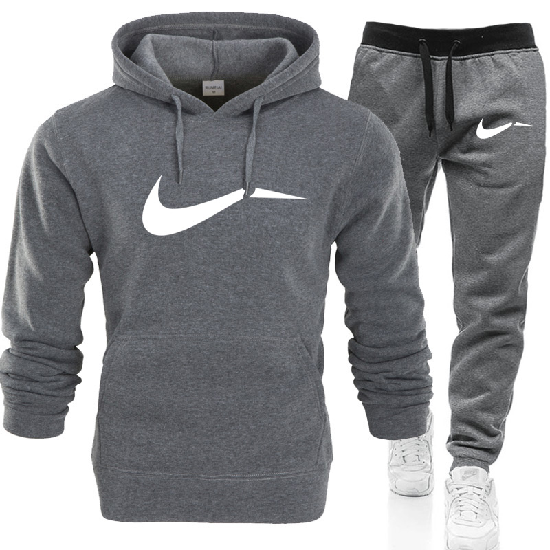 Winter Autumn Men Hoodie Sweatshirt Jacket+ Joggers Sweatpants Man Printing Suits Sportwear Tracksuit Fight Color Brand Clothing