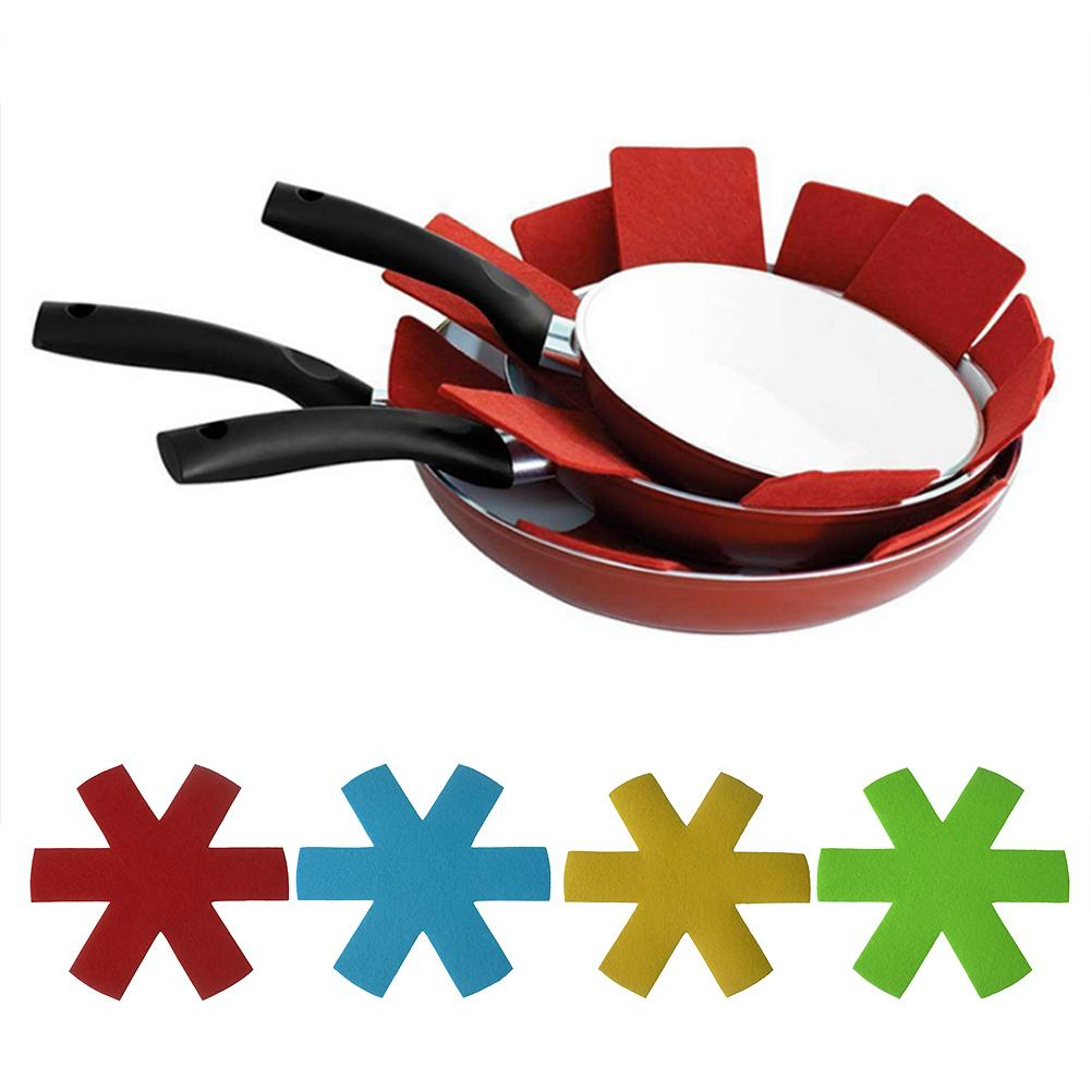 4/8pcs Pot & Pan Protectors Colorful Premium Divider Pads Placemat for Dining Table To Prevent Scratching Protect Surfaces(China)