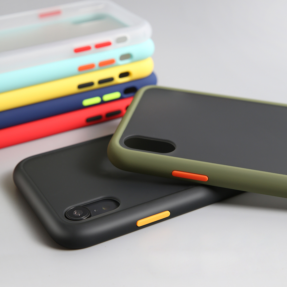 Transparent Matte Color Frame phone case For Xiaomi Redmi CC9 CC9E A3 9 CC9E Note 6 7 7S 7A 8 8A 8T K20 9 9T 10 Pro Lite Cover(China)