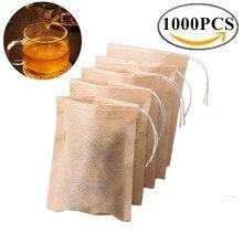 Wholesales Biodegradable Paper Teabags Drawstring Eco-Friendly Tea Bag Filter Empty Tea Bags for Loose Leaf Tea Powder Herbs
