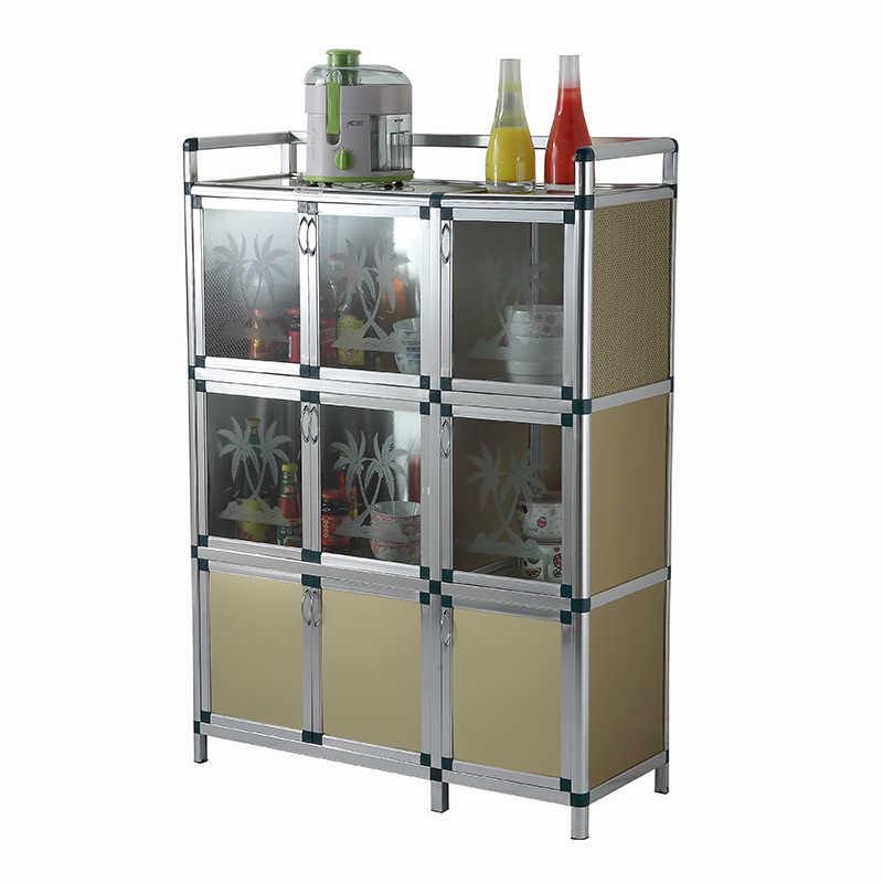 Simple Kitchen Cabinet, Cupboard, Receiving Cabinet, Aluminum Alloy  Plexiglass Tea Cabinet wall cabinet storage cabinets