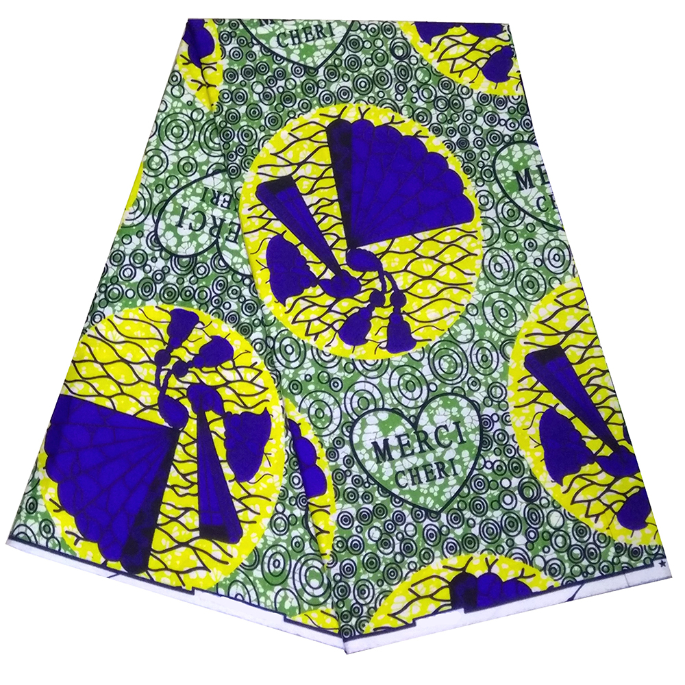 2019 Fashion Ankara African Printed Wax Cotton Real Dutch Wax Fabric For Wedding Party Dress Material High Quality Africa Cloth