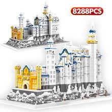 8288 pçs diamante nevando cisne castelo arquitetura blocos de construção micro tijolos conjuntos brinquedos educativos para crianças presentes natal