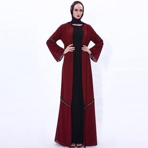 Eid Mubarak Open Abaya Turkey Kimono Femme Cardigan Muslim Hijab Dress Maxi Abayas For Women Kaftan Dubai Islam Robe Musulmane