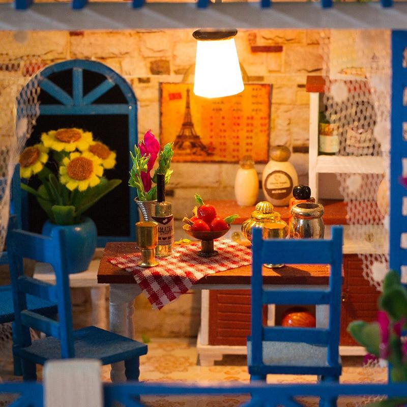 2019 Горячая продажа DIY деревянный сад модель здания Кукольный дом креативная ручная головоломка игрушка для детской мебели модель подарок на день рождения - 4