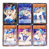 9pcs/set Yu Gi Oh Sexy Dark Magician Girl DIY Colorful Toys Hobbies Hobby Collectibles Game Collection Anime Cards