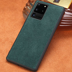 Kulit Sapi Asli Kulit Cell Phone Case untuk Samsung Galaxy S20 Ultra S20 Plus S20 Catatan 10 S8 S9 S10 plus A50 A51 A70 A71 Cover
