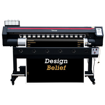 Locor 1600 single head large format printer with one DX7 printhead vinyl automatic best eco solvent printer