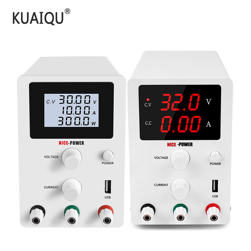 LCD Digital Switching DC Power Supply Voltage Regulators Lab Repair Adjustable 110/220V Power Source 30V 60V 10A 5A Protect Eyes Switching Power Supply  - AliExpress