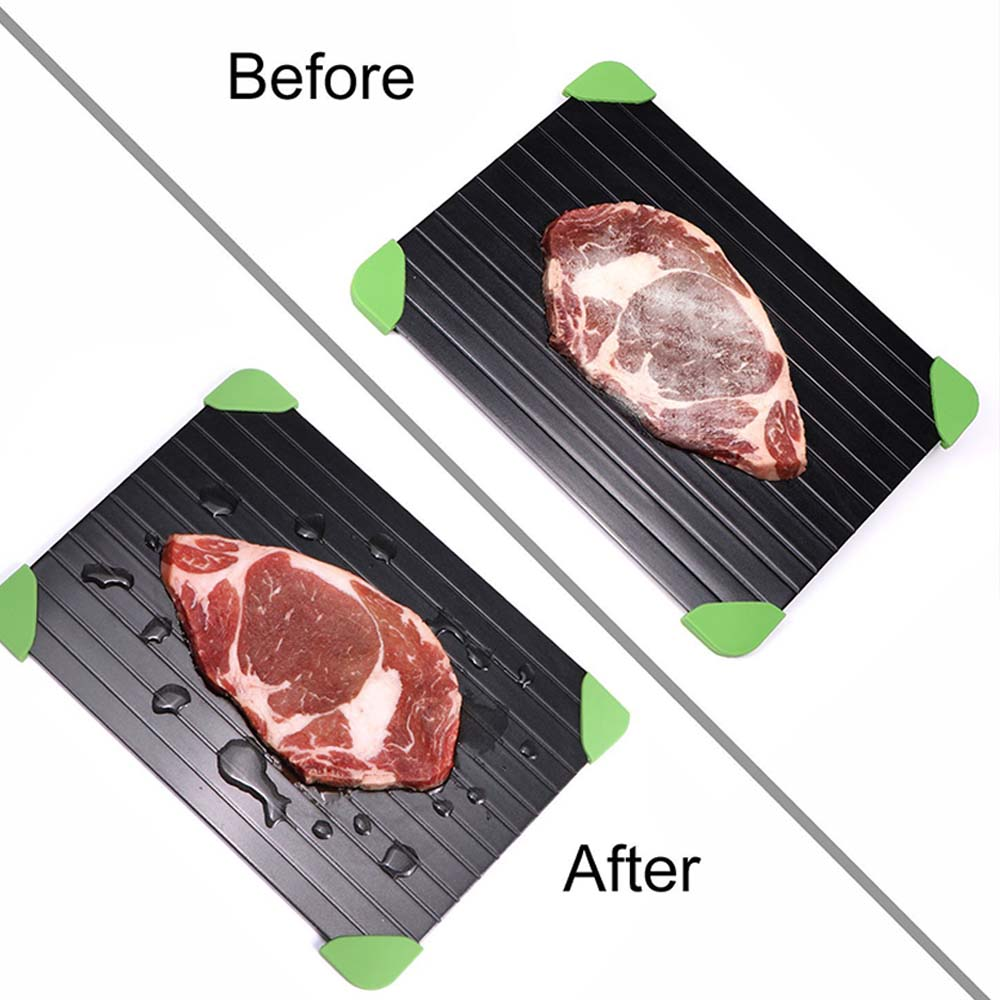 Image 4 - Fast Defrosting Tray Thaw Frozen Food Meat Fruit Quick Defrosting  Plate Board Defrost Kitchen Gadget ToolDefrosting Trays   -