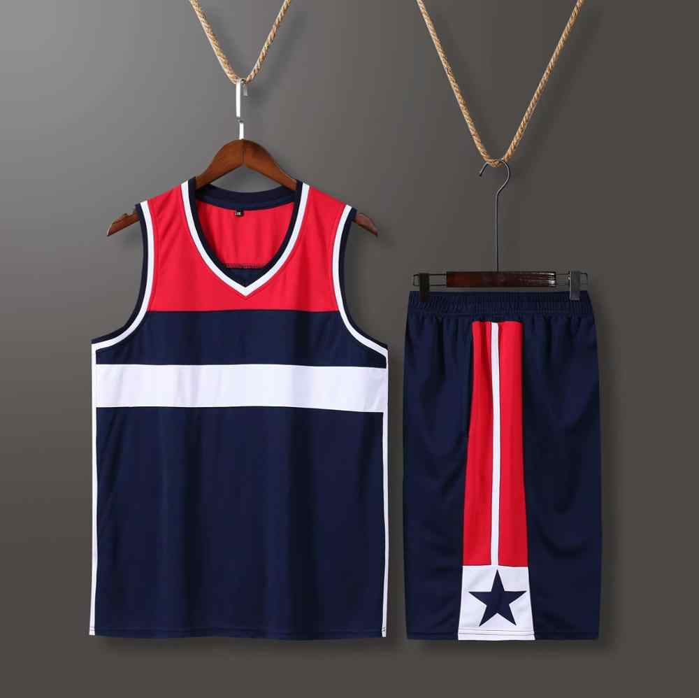 Boys Men College Basketball Jersey Shorts with side pocket , Custom USA Basketball Uniform , Professional Throwback jerseys Sets
