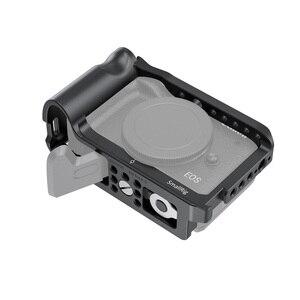 Image 2 - Cage de caméra petit modèle M6 pour Canon EOS M6 Mark II Dslr Cage de montage avec poignée intégrée/support de chaussure froide Vlog Rig  2515