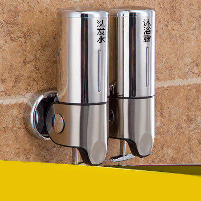 Soap Dispenser Hotel bathroom wall hanging stainless steel soap dispenser box hand sanitizer bottle