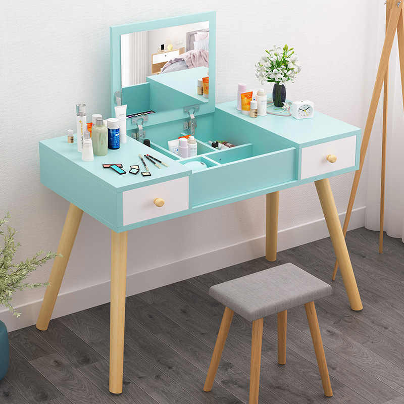 Komody drewniane lustro toaletka kosmetyczne organizator Organizer na kosmetyki szafka proste w łazience moda dla meble do sypialni