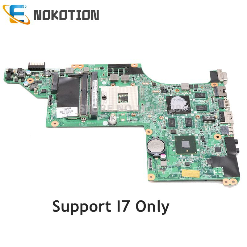 NOKOTION 630278-001 592816-001 615278-001 For HP DV6-3000 Laptop Motherboard DA0LX6MB6H1 HD5650 1GB Support I7 Only