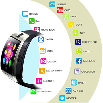 цена на New Q18 Smartwatch Smart Watch clock Digital Men Watch Bluetooth SIM TF Card Camera For Android smart Mobile Phone Wristwatch