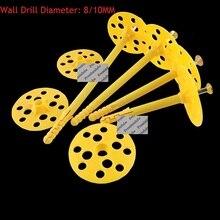 50 шт./партия пластиковый крепеж для каменной кладки фланец анкер расширения винта внешней стены лица Теплоизоляционный слой крепления