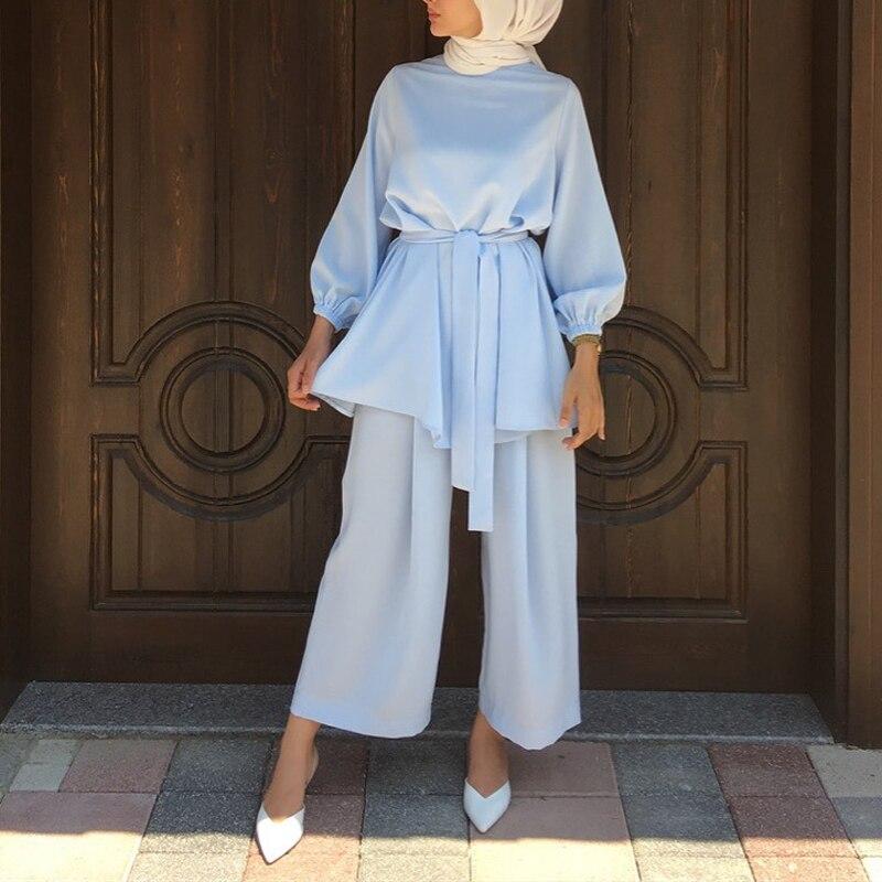 Aid Mubarek Two-piece Muslim Sets Abaya Turkey Hijab Dress Caftan Kaftans Islam Clothing Abayas For Women Musulman Ensembles