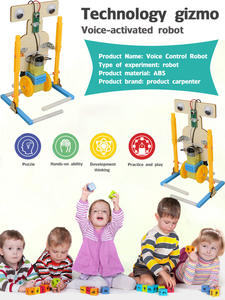 Toy-Material Voice-Control-Robot Technology Small-Production Diy Homemade Science-Experimental