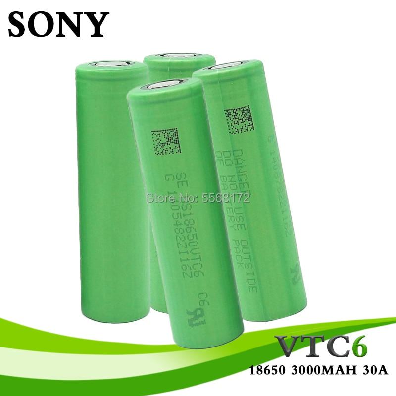 Батарея SONY VTC6 18650 в 3000 мАч, литий-ионный аккумулятор 3,7 В, батарея us18650 3000 мАч, игрушки, инструменты, сертификат CE ROSE