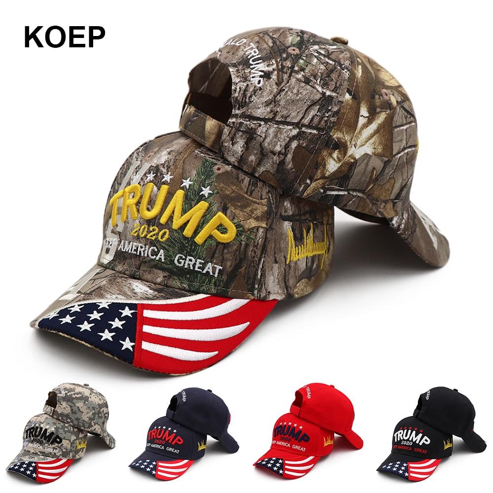 New Donald Trump 2020 Cap USA Baseball Caps Keep America Great Snapback President Hat 3D Embroidery Wholesale Drop Shipping Hats(China)