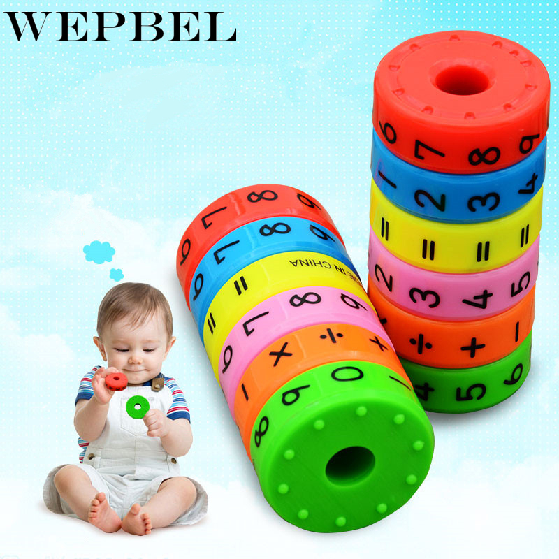 WEPBEL 6pcs/set Digital Multiplication Magnetic Column Figure Arithmetic Puzzle Building Blocks Educational Toy For Child