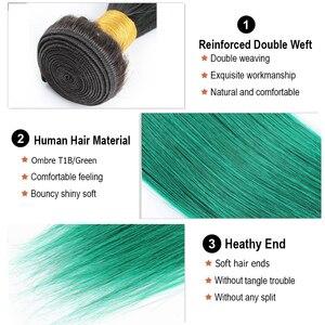 Image 5 - モーグル髪オンブル 1B 赤青緑紫ストレートヘア織りバンドルブラジル髪 1 個レミーヘアエクステ 12 26 インチ