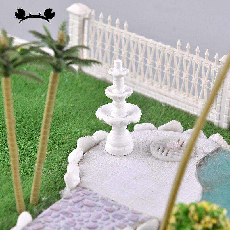 9pcs 1/87 HO Scale Statue Sculpture Fountain Architecture Model Building Kit Mini Garden Decoration