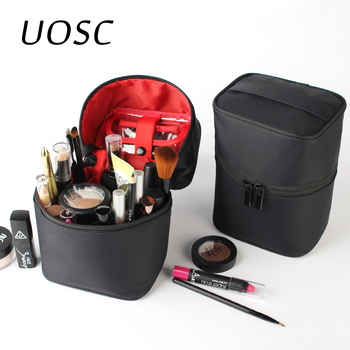 UOSC Makeup Bag Women Bags Men Large Waterproof Nylon Travel Cosmetic Bag Organizer Case Necessaries Make Up Wash Toiletry Bag