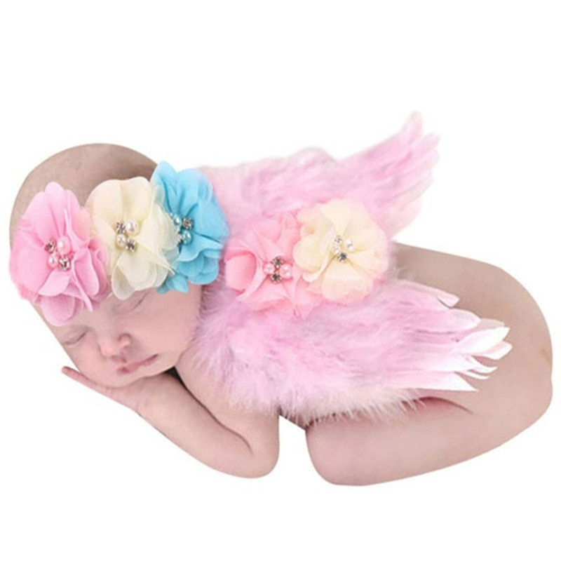 Newborn Baby Girls Boys Angel Wings Costume Photo Photography Prop Outfits Infants Fotografia Crochet Costumes For Babie Skirt